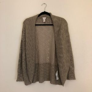 Chico's metallic and lace cardigan